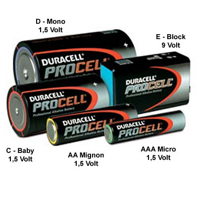 batterien duracell procell professional micro mignon. Black Bedroom Furniture Sets. Home Design Ideas