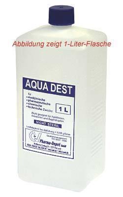 aqua dest 1 5 oder 10 liter destilliertes labor wasser. Black Bedroom Furniture Sets. Home Design Ideas